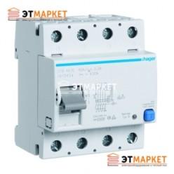 Устройство защитного отключения Hager 4x63A, 300 mA, AC, 4м