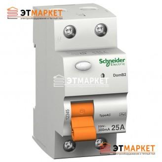 УЗО Schneider Electric ВД63 4,5 кА, 25А, 300 mA, 2 п.