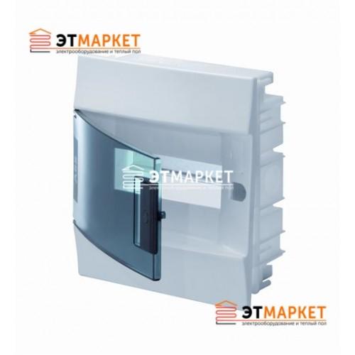 Щит ABB Mistral41F 8 м., IP41, прозрачные двери, клеммник, встраиваемый