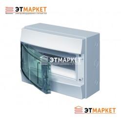 Щит ABB Mistral65 12 м., IP65, прозрачные двери, клеммник, навесной