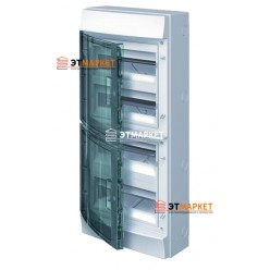 Щит ABB Mistral65 48 м., IP65, прозрачные двери, клеммник, навесной
