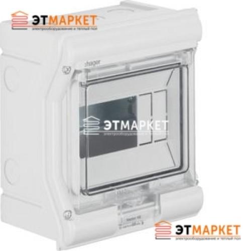 Щит Hager Vector накладной, прозрачная дверца, 6 м., IP65