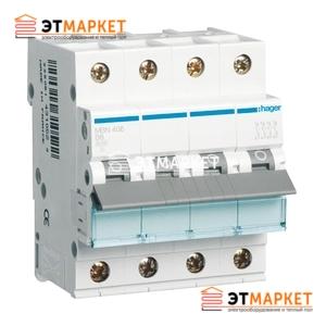 Автоматический выключатель Hager MB413A 10А, 4п, В, 6kA