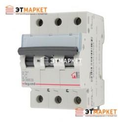 Автоматический выключатель Legrand TX³ 10A, B, 6 kA, 3 п.