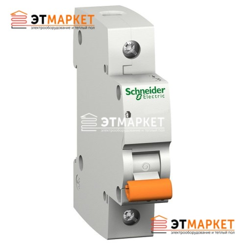 Автоматический выключатель Schneider Electric ВА63 6А, 1 п., 4,5 кА