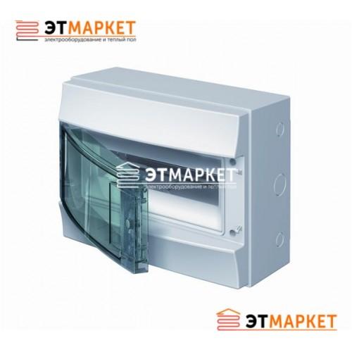 Щит ABB Mistral65 12 м., IP65 , прозрачные двери, навесной
