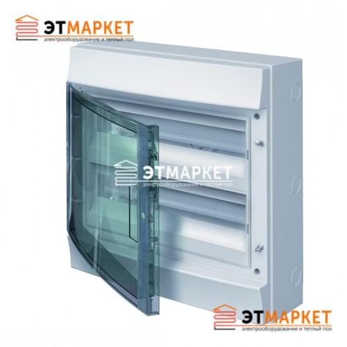 Щит ABB Mistral65 36 м. (18x2), IP65, прозрачные двери, клеммник, навесной