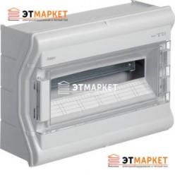 Щит Hager Vector накладной, прозрачная дверца, 18 (20) м., IP65