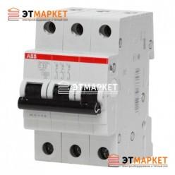 Автоматический выключатель ABB SH203-B13, 3 п., 13А, B
