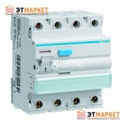 Устройство защитного отключения Hager 4x63 A, 100 mA, A, 4м