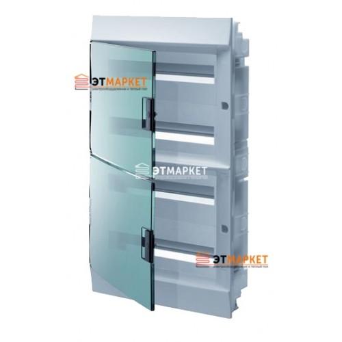 Щит ABB Mistral41F 72 м., IP41, прозрачные двери, клеммник, встраиваемый