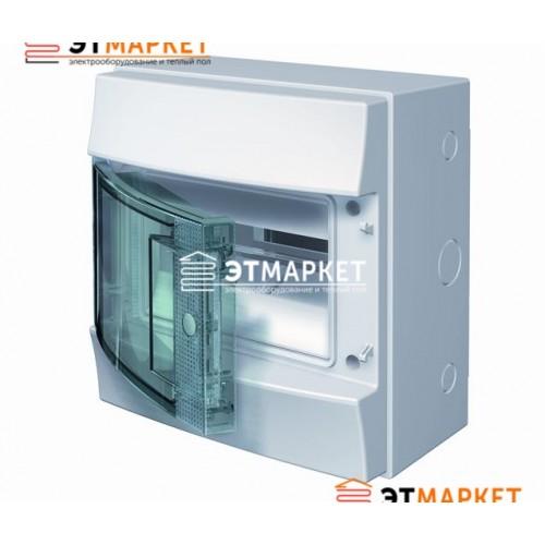 Щит ABB Mistral65 8 м., IP65 , прозрачные двери, навесной