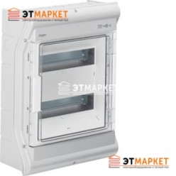 Щит Hager Vector накладной, прозрачная дверца, 24 (28) м., IP65