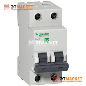 Автомат Schneider Electric Easy9 2 п., 20А, С
