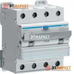 Диффавтомат Hager ADM482C, 4P, 32А, С, С6 кА, A, 30mA